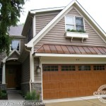 Copper Roof and wood garage