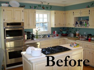 Before and after kitchen photos