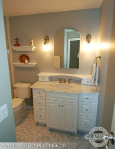 small bathroom storage ideas created by Normandy Designer Jennifer Runner