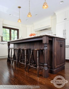 kitchen island with stools picture created by normandy designer vince weber