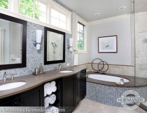 gray bathroom picture created by normandy designer ann stockard