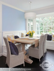 kitchen banquette design created by normandy designer ann stockard