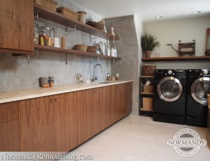 modern laundry room design created by Normandy Designer Kathryn O'Donovan