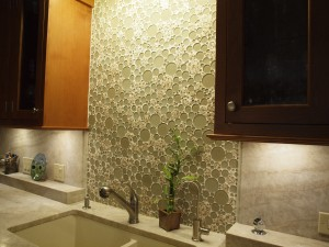 mosaic tile kitchen backsplash pattern ideas created by Normandy Designer John Long