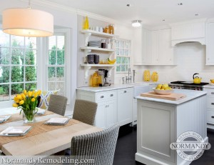 small kitchen island created by Normandy Designer Ann Stockard