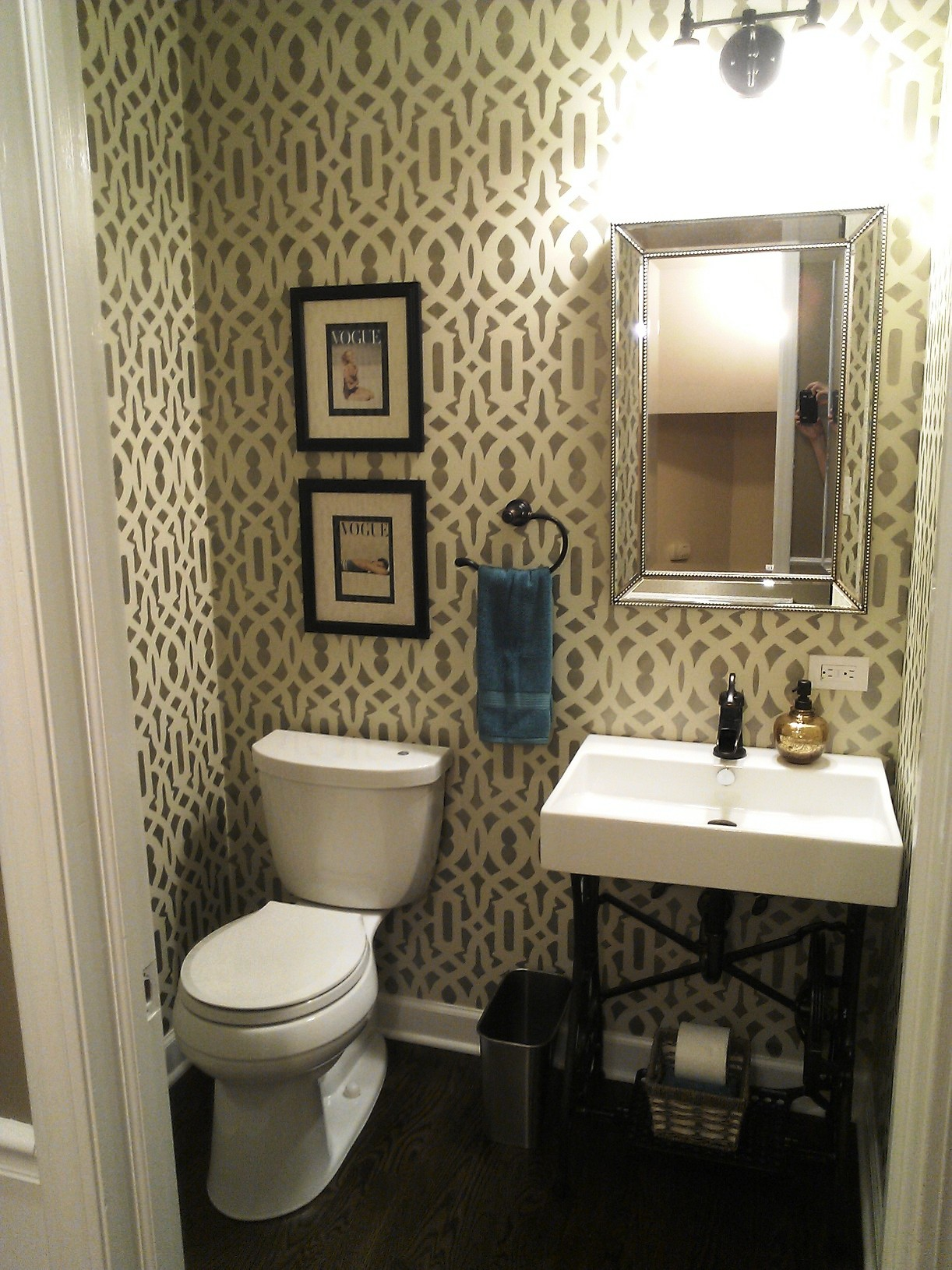 Designer Adds Her Personal Touch To First Floor Powder Room Normandy Remodeling