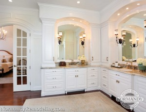 French Doors Have Varying Door In Bathroom