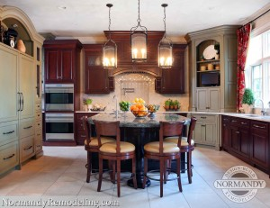 Mixing Stained And Painted Kitchen Cabinetry Is A Winning Recipe