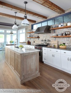 Mixing Stained And Painted Kitchen Cabinetry Is A Winning Recipe Normandy Remodeling