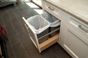 Kitchen trash and recycling cabinet