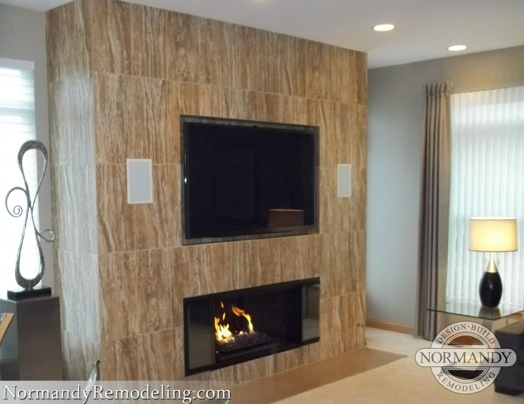 where to put the tv in the living room with fireplace
