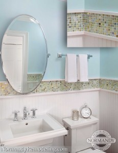 bathroom accent tile by normandy remodeling designer ann stockard
