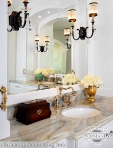 gold tone master bathroom remodeling trends