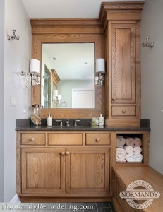 Expand Bathroom Storage Possibilities With Open Shelving