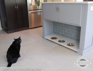 eating spot for cats in kitchen