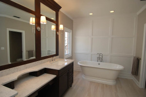 Master Bathroom with Wall Paneling