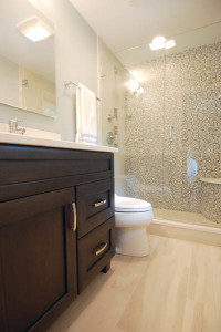 Western Springs Bathroom with Mosaic Shower