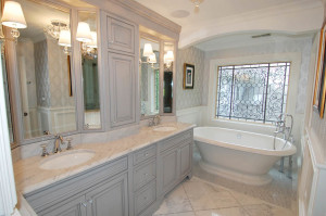Soothing Gray Traditional Master Bathroom