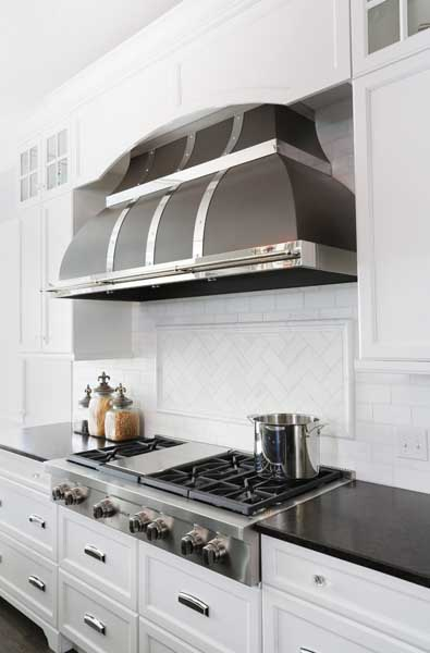 Up-to-the-Minute Kitchen Ideas: Metal Range Hoods : Normandy ...