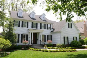 White Colonial House Exterior Renovations