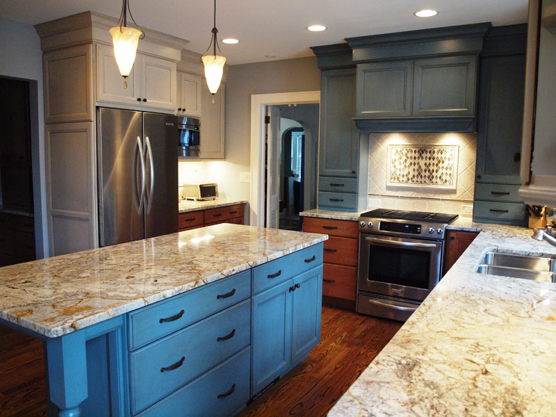 Robin S Egg Blue Cabinets Sing Normandy Remodeling