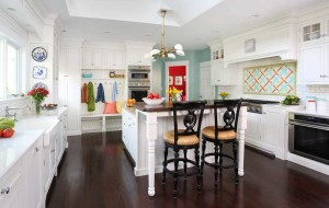 White, Bright and Colorful Hinsdale Kitchen Remodel