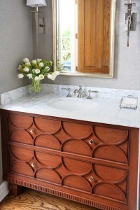 Classic Elegance for the Powder Room
