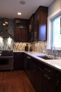Going Up? Backsplash Tile That Goes to the Ceiling