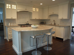 White on White for this Transitional Style Kitchen