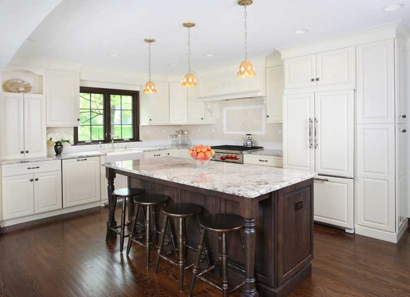 White Kitchen Cabinets With Brown Trim Can you have Stained Trim with White Painted Cabinets? : Normandy