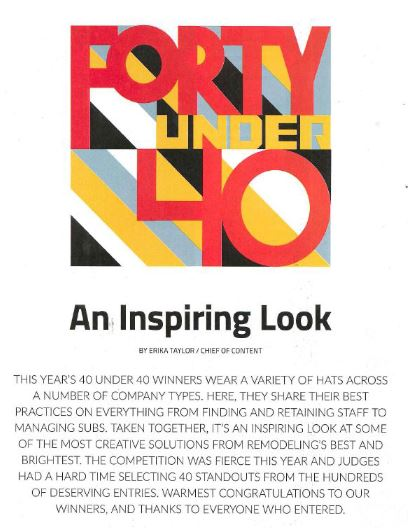 40 Under 40 - About