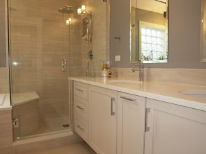 Double vanity plus shower