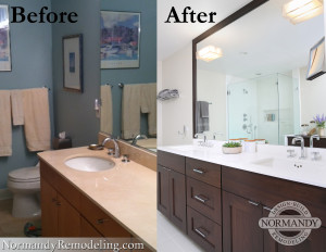 Master Bath before and after photo