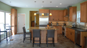 Mission Style Cabinetry in a Light Stained Kitchen