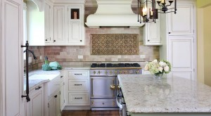 Gracefully Traditional Antique White and Green Kitchen