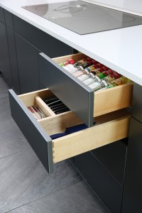 cabinet drawer dividers for spices and cutlery