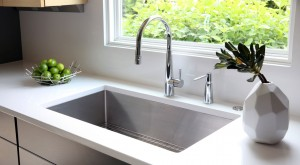 Single bowl large stainless steel sink