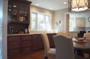 Cabinetry and beverage station for entertaining