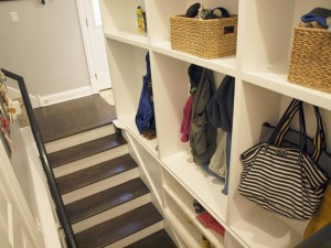 Re-purposing basement stairs to create a mudroom