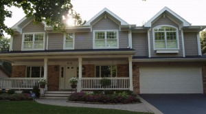 Exterior photo of a master suite addition over the garage