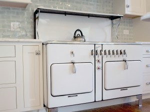 vintage stove with two ovens