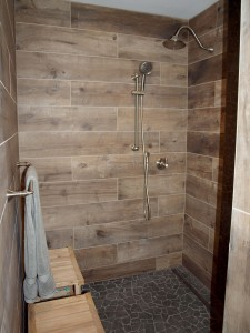 Wood-Look Tile on Walls