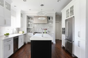 Kitchen Remodel Goes for Heavy Metal Glamour