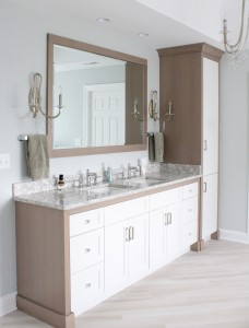 Serene Master Bathroom Accented with Driftwood White Oak