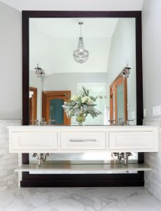 Master Bathroom Sparkles with Mother of Pearl