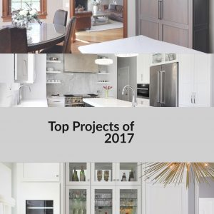 Photo collage of 2017 kitchen remodeling projects