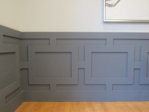 Gray wainscoting in a modern style