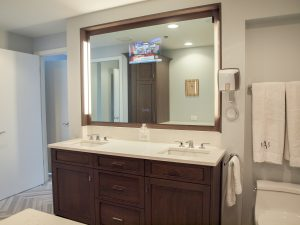 High-Rise Master Bathroom Incorporates Technology