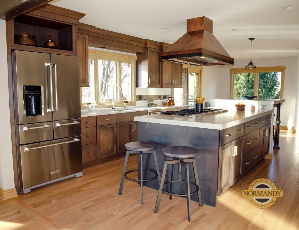 Rustic Kitchen With Copper Accents Normandy Remodeling