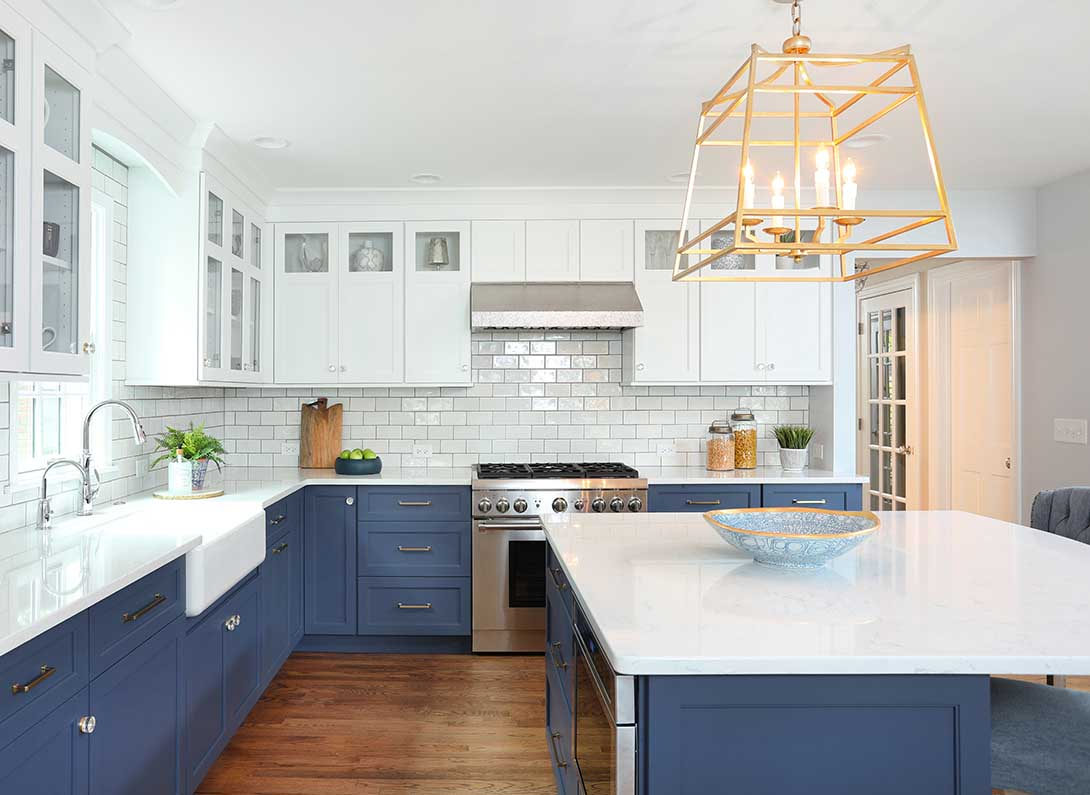What Is A Kitchen: Cool Blue Transitional Kitchen : Normandy Remodeling